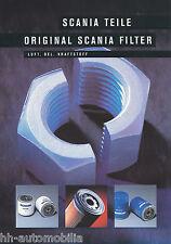 Prospetto ACCESSORI CAMION SCANIA FILTRO 1999 brochure TRUCK ACCESSORIES utilitaria