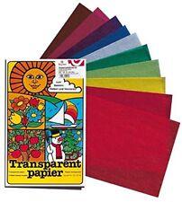 Papier Vitrail Transparent 10 Couleurs 20x30cm - URSUS