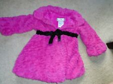 GIRLS SIZE 3T AMERICAN-WIDGEON HOT PINK - FAUX  FUR SWING COAT - USED