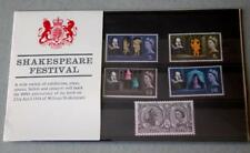 GB 1964 WILLIAM SHAKESPEARE FESTIVAL PRESENTATION PACK SG 646 650 SCAN #07 RARE
