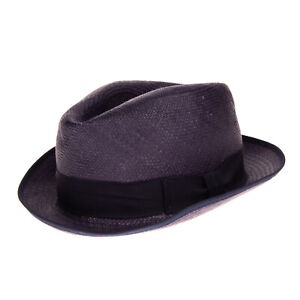 RRP €160 CHRISTYS' Straw Panama Trilby Hat Size 57 / M HAND WOVEN Made in UK