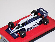 1/43 BBR GASOLINE BRABHAM  BT55 #8 1986 Elio De Angelis on leather base