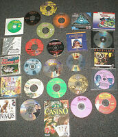 (LOT OF 27 ) PC VINTAGE 1990's GAMES + LEARNING CD-ROM WINDOW'S COLLECTOR'S LOT