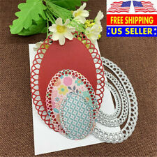 Oval Scallop Frame Metal Cutting Die Scrapbooking Embossing Album Paper Craft