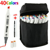 40 Colors Twin Tips Copic Sketch Markers Pens Set Touch New Graphic Artist Paint