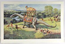 "Signed THE EXCURSION James Gurney 1993 29.75"" Lithograph Print Ltd Ed Dinotopia"