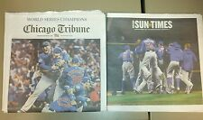 World champion cubs 2016 newspapers Chicago tribune and sun times