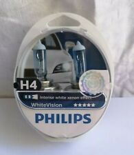 Philips 12342WHVSM White Vision Xenon Effect H4 Headlight Lamp 3700K Twin Pack