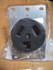 (10 pc) Dryer Outlet Receptacle 30A BLACK 3 Wire Flush Mount 30 Amp NEMA 10-30R