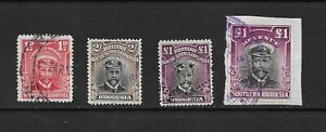 L8717 SOUTHERN RHODESIA  REVENUE STAMPS DUTY