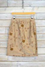 Faldas de mujer de color principal marrón de seda