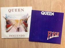 """2 QUEEN  7"""" SINGLES .. FLASH & INNUENDO"""