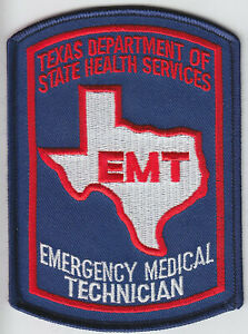 Texas EMT patch FULL COLOR VERSION Emergency Medical Technician TX