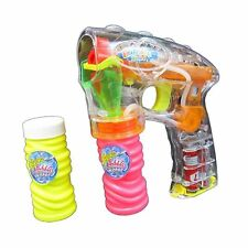 2 X LED BUBBLE GUN SHOOTER LED LIGHTS WITH 2  FREE BUBBLE SOLUTIONS LED