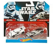 Hot Wheels Star Wars Stormtrooper & Capitán phasma coches Pack Totalmente Nuevo Y Sellado!