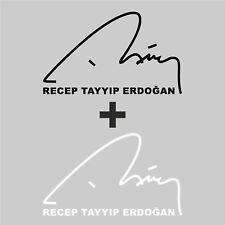 Recep Tayyip Erdogan Auto Aufkleber Imza Unterschrift Autoaufkleber Sticker AKP