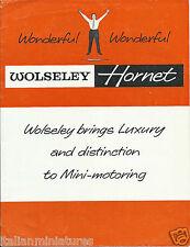 Wolseley Hornet 1961 Original Folleto Excelente Estado