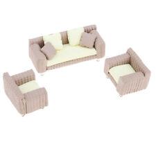 Dolls House 1/25 Scale Miniature Furniture Ceramic Sofa Model & Chair Set D