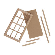 Miniature Wooden 12 Pane Window Frame for Dolls House Accessory 1:12 Scale