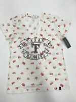 MLB Team Apparel Texas Rangers Cream Floral Banner Size M 10/12 Girls Sample New