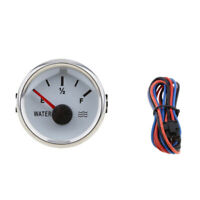 Marine Boat Level Water Level Gauge Indicator 2'' 52mm 9~32VDC White