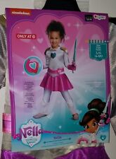 NEW Nella Princess Knight Halloween Costume Toddler Large 4-6X Jumpsuit Gloves