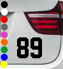WD auto pegatinas número inicial moto Jersey tuning sticker decal-cada tamaño