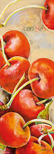 Elizabeth Espin: Le Temps des Cerises Bloc d'Art 25x70 Cuisine Fruit