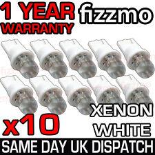 10x Led 501 W5w T10 Push Cuña Hid Xenon Lado Blanco bombillas 1 Año De Garantía