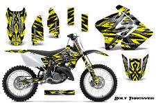 SUZUKI RM 125 250 Graphics Kit 2001-2009 CREATORX DECALS BOLT THROWER YELLOW B