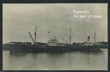 Sharp RPPC c.1920 STEAMSHIP MOJAVE Oil Tanker moored at F.C.S. Company Dock