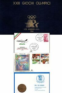 OLIMPIADI 1984 FDC 2 Volumi con emissioni Los Angeles e Sarajevo