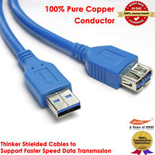 Superspeed USB 3.0 Type A Male to Type A Female 28AWG Extension Cable, 3 Feet
