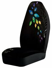 Brand NEW Peacock Universal Bucket Car Seat Covers Black Full Fit Cover Set of 2
