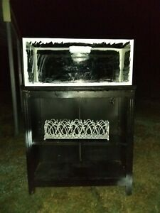 20 gallon aquarium with stand candle holder filter heater rocks and decorations