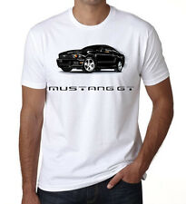 Mustang GT Black Mens Kids T shirt Top Racing Car White DT