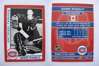 2015 SCA Ernie Wakely Montreal Canadien goalie never issued produced #d/10 rare