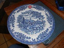 "New QUEEN'S Made in England Cobalt Blue Brook Blue 10 1/4"" Plate"