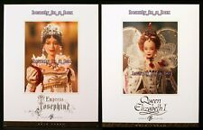 Empress Josephine Barbie Doll Queen Elizabeth Lot 2 Women of Royalty Gold Label""