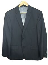 LOOK!! - HAGGAR SUIT JACKET BLAZER BLACK PINSTRIPE REGULAR FIT SIZE 42S / LARGE