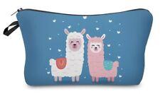 Alpaca Friends Print Cosmetics Make-up Bag Pencil Case