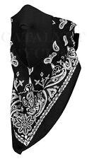 Zan Headgear NeoDanna Cotton Bandanna with Neoprene Face Mask - Black WNEO101