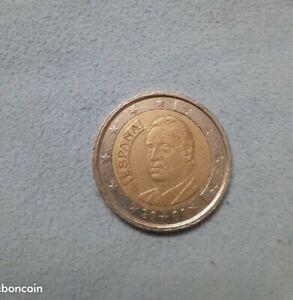 2 EURO ESPAGNE 2001 -Portrait du roi Juan Carlos de profil-