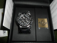 NEW GEVRIL GV2 NOVARA 8203 Men's CHRONOGRAPH BLACK WATCH