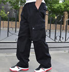 Fashion Mens Overalls Cargo Pants Loose Baggy Hip-Hop Casual Trouser CN XL-6XL