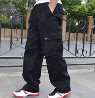 Hot New Mens Cargo Baggy Hip-Hop Pants Loose Overalls Casual Trouser CN XL-6XL