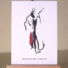 Cruella De Vil WDCC Art Deco drawing villains ACEO Card