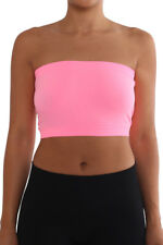 Seamless Tube Top Layering Bandeau Stretchable Spandex ONE SIZE