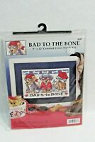Dog Cross Stitch Kit Bad To The Bone Airwaves New