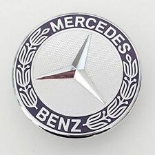 For Mercedes Benz Flat Mount Hood Emblem Badge Ornament Logo 2048170616 57mm New